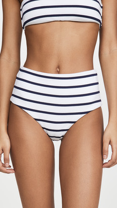 Eberjey Retro Stripe Dita High Waisted Bikini Bottoms