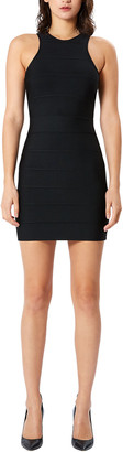 Herve Leger Bandage Knit Mini Racer Dress
