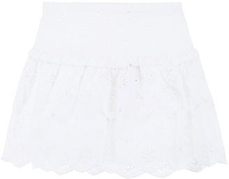 MICHAEL Michael Kors Ruffle Floral Embroidered Mini Skirt