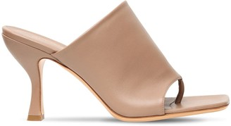 Gia X Pernille Teisbaek 80mm Leather Thong Sandals