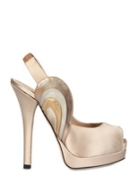 Fendi 140mm Leather And Satin Pumps