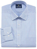 STAFFORD Stafford Travel Easy-Care Broadcloth Long Sleeve Broadcloth Gingham Dress Shirt
