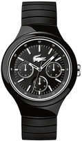 Lacoste Men's Black Leather Strap Watch