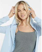 Express One Eleven Zip Front Burnout Hoodie