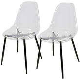 Lumisource Clara Mid-Century Dining Chairs (Set of 2)