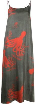 UMA WANG Octopus-Print Slip Dress
