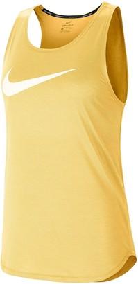 Nike Running Swoosh Tank Top - Topaz Gold