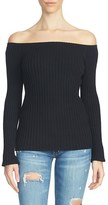 1 STATE 1.State Ribbed Off the Shoulder Sweater