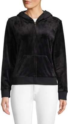 Juicy Couture Embellished Graphic Zip Hoodie