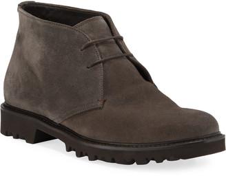 Giorgio Armani Men's Suede Chukka Boot