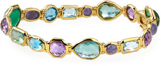 Ippolita Rock Candy 18k Amethyst-Blend Bezel-Set Bracelet
