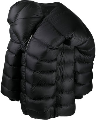 Moncler + Rick Owens Hooded Mid-Length Coat