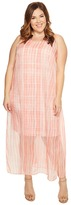 Vince Camuto Specialty Size - Plus Size Sleeveless Graceful Phrases Chiffon Overlay Dress Women's Dress