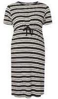 Dorothy Perkins Wo**maternity Black And White Striped Dress- Black