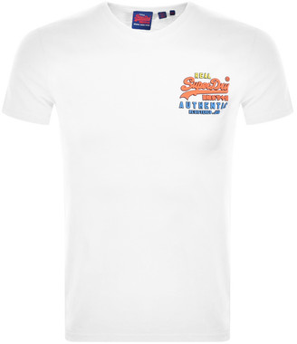 Superdry Authentic Short Sleeved T Shirt White