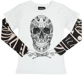 Fred Mello Skull Printed Cotton Jersey T-Shirt