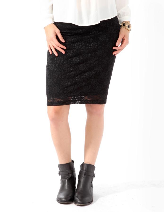 Forever 21 Lace Knee Length Skirt