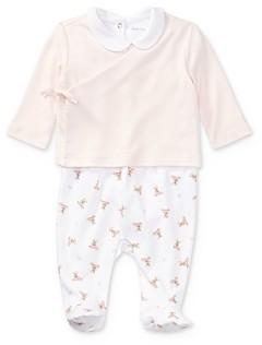 Ralph Lauren Girls' 3-Piece Bodysuit, Overalls & Top Set - Baby