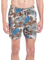Saks Fifth Avenue COLLECTION Hibiscus Print Swim Trunks