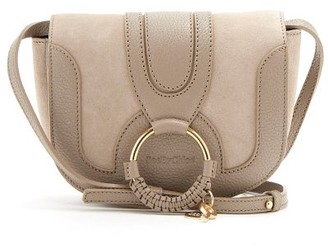 See by Chloe Hana Mini Suede And Leather Cross-body Bag - Grey