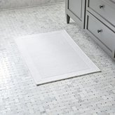 Crate & Barrel Westport White Bath Rug