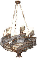 Varaluz Flow 6-Light Chandelier, Hammered Ore
