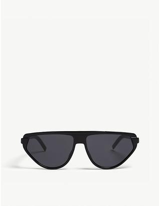 Christian Dior Women's Black Striped Luxury Blacktie247S Pilot-Frame Sunglasses