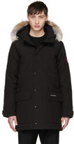 Canada Goose Black Down and Fur Emory Parka