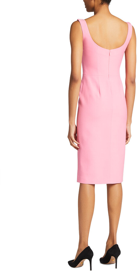 Thumbnail for your product : Alexander McQueen Sleeveless Pencil Sheath Dress w/ Front Slit