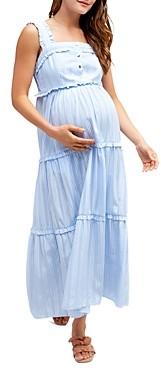 Nom Maternity Emma Tiered Floral During & After Dress