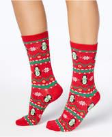 Charter Club Women's Penguin Fair Isle Socks, Created for Macy's