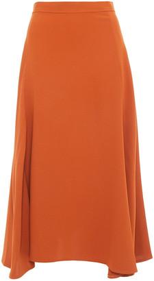 Iris & Ink Ella Asymmetric Crepe Midi Skirt