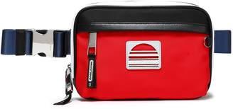 Marc Jacobs Logo-appliqued Leather-trimmed Twill Belt Bag