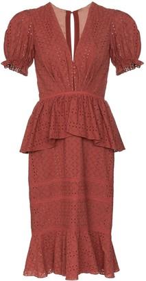 Johanna Ortiz Dandyism broderie-anglaise dress
