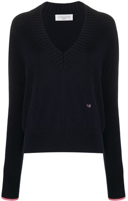 Victoria Beckham relaxed V-neck sweater