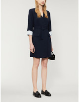 Claudie Pierlot Rafte woven wrap mini dress
