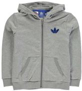 adidas Kids Hoody Full Zip Hoodie Long Sleeve Hooded Junior Boys Cotton Print