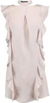 Marissa Webb Kera Ruffled Printed Silk Mini Dress
