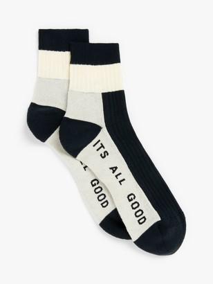 It's All Good Folk Colour Block Ankle Sports Socks