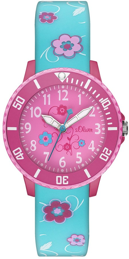 S'Oliver Girls Quartz Watch with Silicone SO - 2992PQ