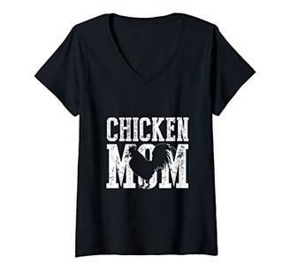 Womens Chicken Mom Tee Chihuahua Mama Gift Women's V-Neck T-Shirt