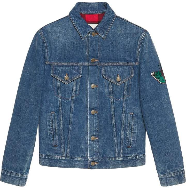 Gucci Denim jacket with embroideries