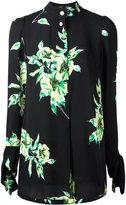 Proenza Schouler tie cuff floral print shirt