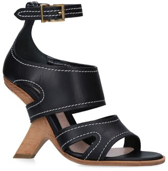 Alexander McQueen Leather No.13 Wedge Sandals 105
