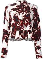 MSGM floral print longsleeved blouse - women - Viscose - 38