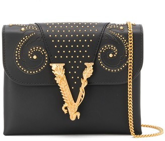 Versace Logo Plaque Shoulder Bag
