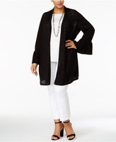 Alfani Plus Size Linen-Cotton Duster Cardigan, Only at Macy's