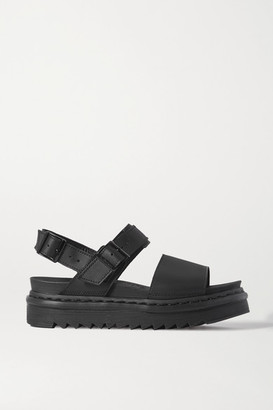 Dr. Martens Voss Leather Platform Slingback Sandals - Black