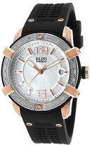 Elini Barokas 20005D-RG-02-SB Women's Spirit Diamond Black Silicone MOP Dial
