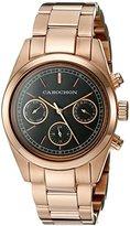 Cabochon Women's 1117 De Ce Monde Analog Display Swiss Quartz Rose Gold Watch